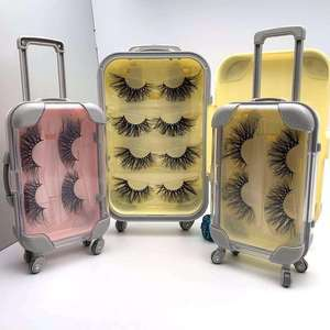 Discount custom packing Strip lashes 100% HandMade 3D Wispy mink eyelashes vendor, mink lashes3d wholesale vendor