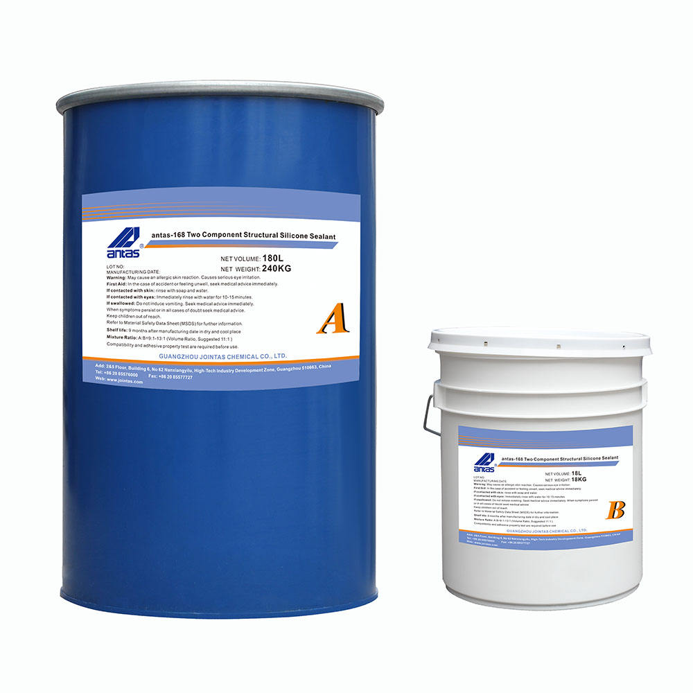 Antas-168 19L+1.9L two component silicone sealant fast curing expansion joint for building curtain walls