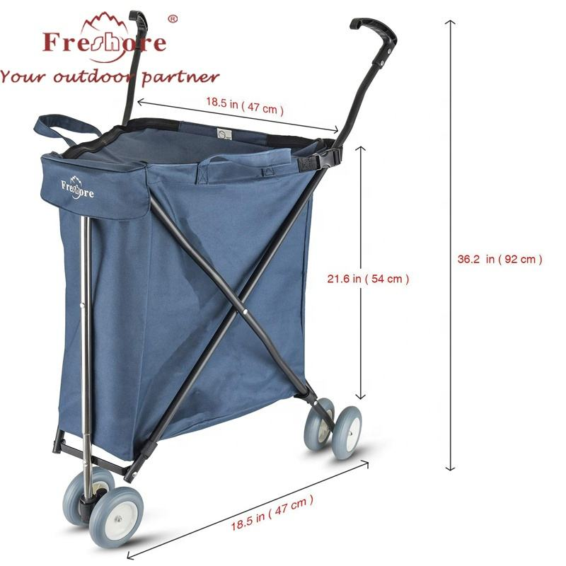 Compact Folding, Transport Up To 35kgs, Signature Blue Shopping trolley with Removable Waterproof Canvas Removable Bag