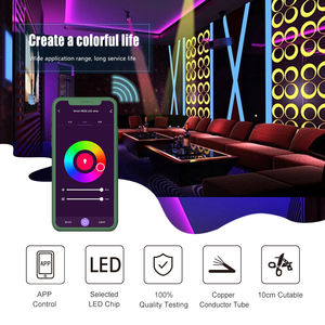 Magic Home Wifi Music Activated LED Light Strip 5050 RGB Rope Light With 24 key remote for Christmas and Parties