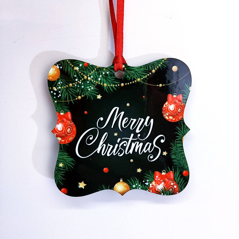 Personalized sublimation mdf blank Christmas ornament sublimation christmas tree decoration