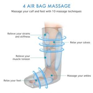 Masseur De Jambe de Compression Dispositif Pied Corps de Pression Compresseur D'air Massage