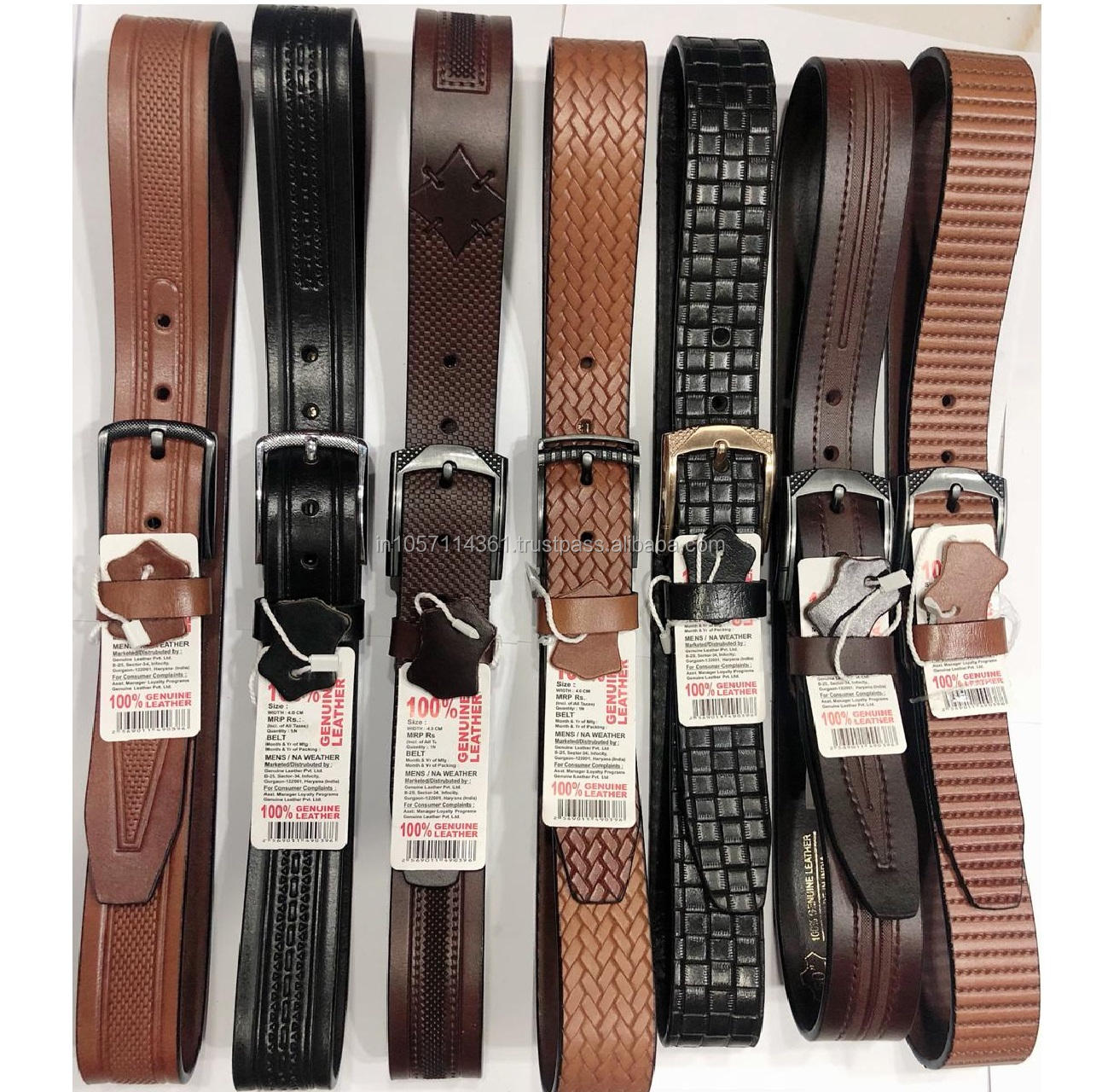 Limited Stock Designer Braided Leather Belts\Patterned Leather Belts