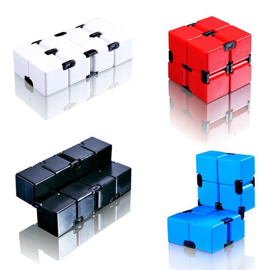 Plastic Anti Pressure Magic Fidget Infinity Cube Promotion Toys For Kids