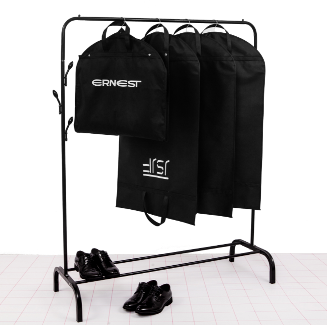 Groothandel Folding Custom Logo Mannen Geweven Ritssluiting Pak Cover Garment Bag
