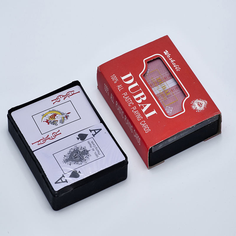 china manufacturer custom 2 pack Poker Size Standard Index plastic playing cards with box