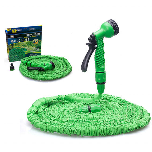 25-100FT Hot Expandable Magic Garden Water Hose For Car Hose Pipe Plastic Hoses garden set to Watering with Spray Gun