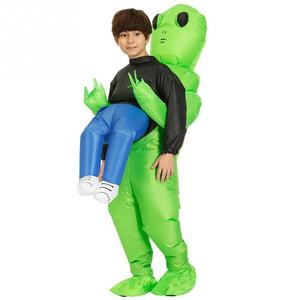 Funny Inflatable Costume green alien Adult kid Funny Blow Up Suit Party Fancy Dress unisex costume