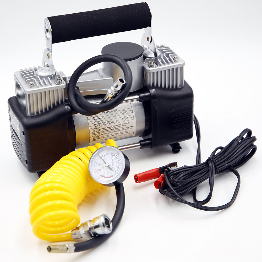 mini high-quality car portable air compressor car 12v wash pump tire pressure monitor
