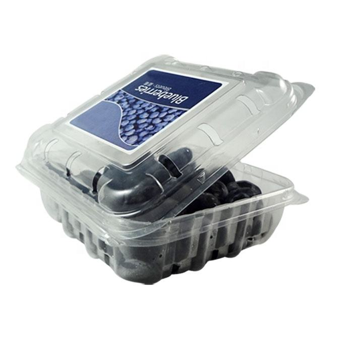 PET Disposable Plastic Clear Blister Packaging Container Fruit Blueberry Strawberry Punnet