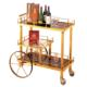Hotel Bar Restaurant Room Supplies Drinks Liquor Wine Cart Metal Brass Luxury Tea Trolley With Wheels for Home