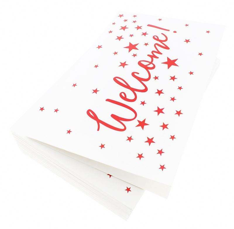 Assorted Pack Welcome Note Cards - Bulk Box Set - Blank On The Package Wholesale White Envelope Custom Colored Envelopes Blank