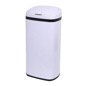 Hot selling square silver color household hotel room stainless steel electric sensor garbage can