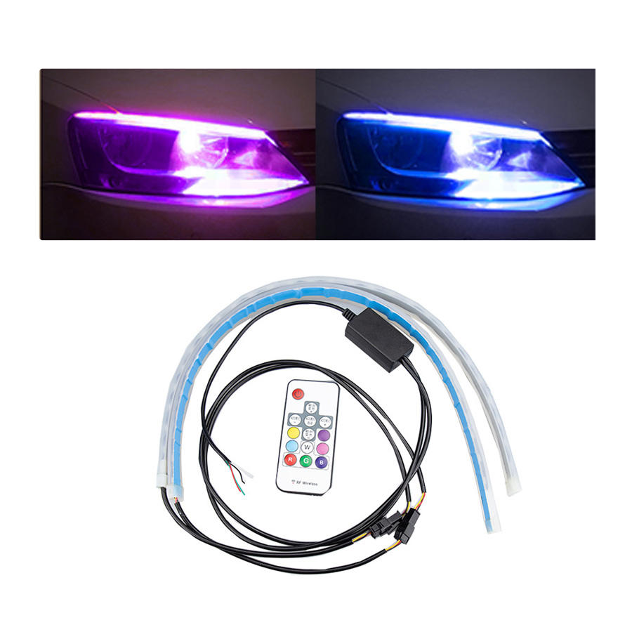 Hot Selling Car Sequential, Flexible Headlight Led Decoration Led Interior Daytime Running Cars Led Strips Light/