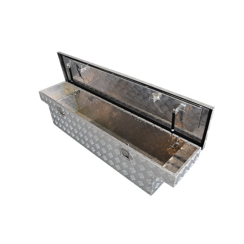 Hot wholesaleAluminum Trailer Saddle Toolbox Pickup Waterproof Truck Tool Box