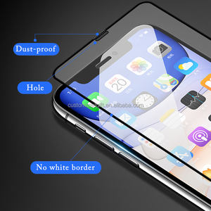 2.5D 9H Tempered Glass Screen Custom for iPhone 11/12 max/12 pro max 0.33mm Hydrophobic Oleophobic Mobile Glass Screen Protector