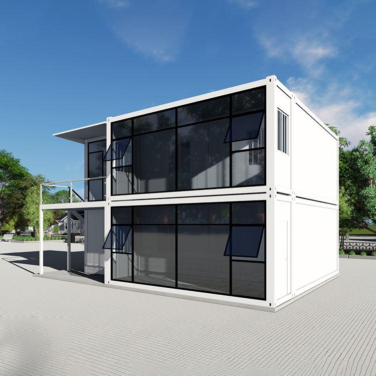 現代のモジュラープレハブコンテナの家高級フラットパック Eps パネル家変更コンテナハウス