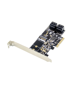 PCIe x4 JMB585 SATA& M.2 Key B SATA 6Gbps PCI Expansion Sata Card