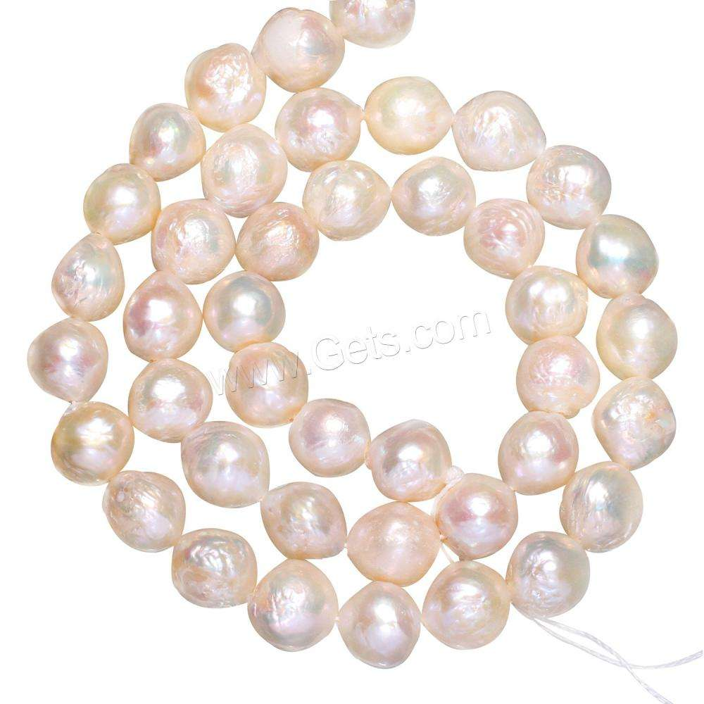 Potato Cultured Freshwater Pearl Beads, natural, white, 8-10mm, Hole:Approx 0.8mm, Length:Approx 15 Inch, Sold By Strand