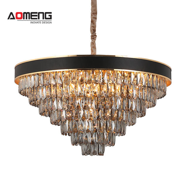 AOMENG Dinner Room Crystal Light Luxury Cristal Lamps Welles Clear Crystal Chandeliers Prism Antique Hanging Lamp
