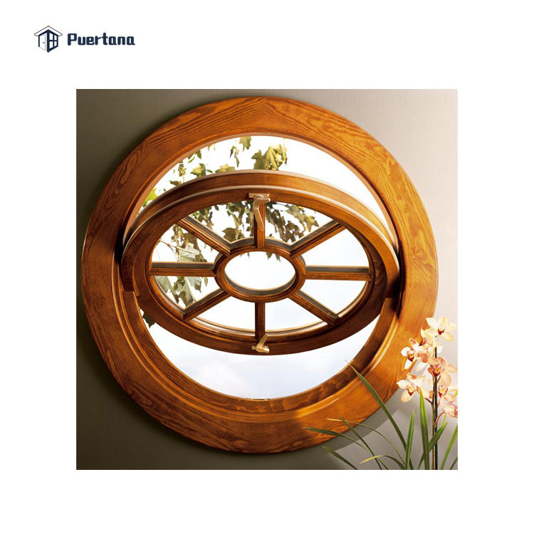 Aluminum Cladding Wood Window Pivoting Window / Round Window / Circle Window