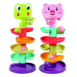 Five layers Creative happy baby educational rolling ball toy marble run toys for kids playing