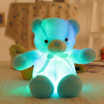 Free Sample 50cm Creative Colorful oso de peluche con luces Light up Bear Plush Stuffed Animals LED Teddy Bear