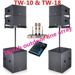 Professional Passive 10inch line array public address system using at big show TW10 / 18Sub