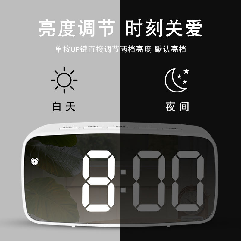 Multifungsi Jam LED Cermin Alarm Clock