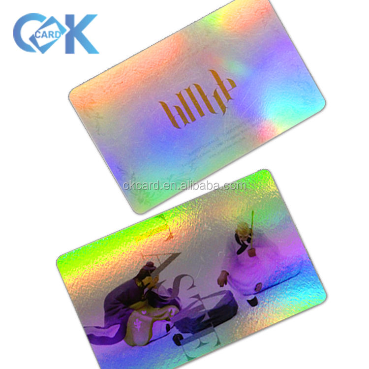 Custom CMYK Printing Plastic Holographic Business Cards/Christmas Gift Card welcome to inquiry~