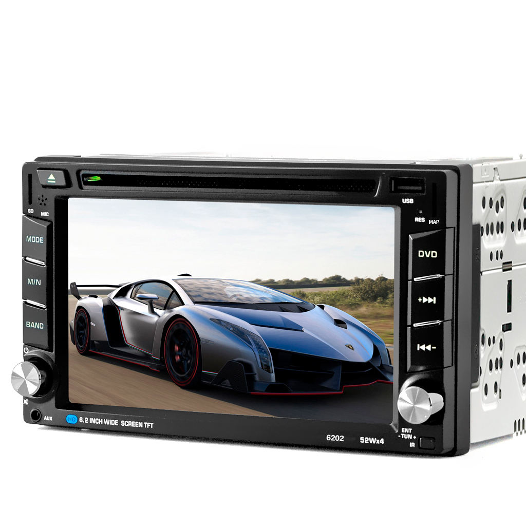 Universal 2 din 6.2 inch touch screen GPS bluetooth car dvd player
