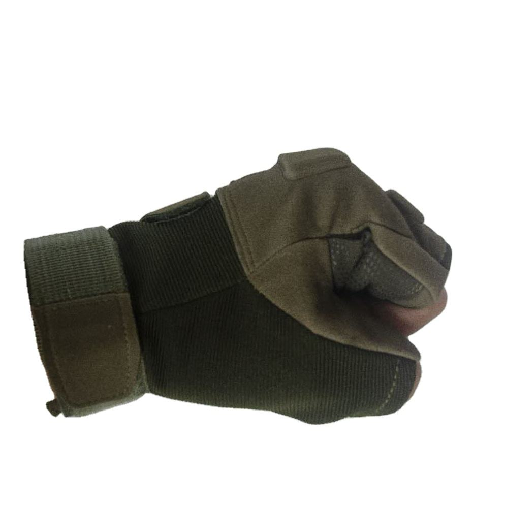 Hand Gloves Half Finger Shooting Tactical Protection Gloves For Police Training Outdoor Cycling Gloves