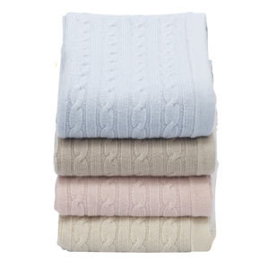 Colorful Cable Luxe Knitted Cashmere Baby Blanket