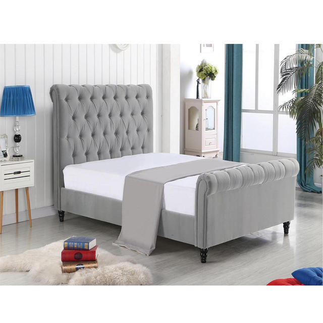 Hot Sale Nice Design Modern Fabric Sleigh Beds