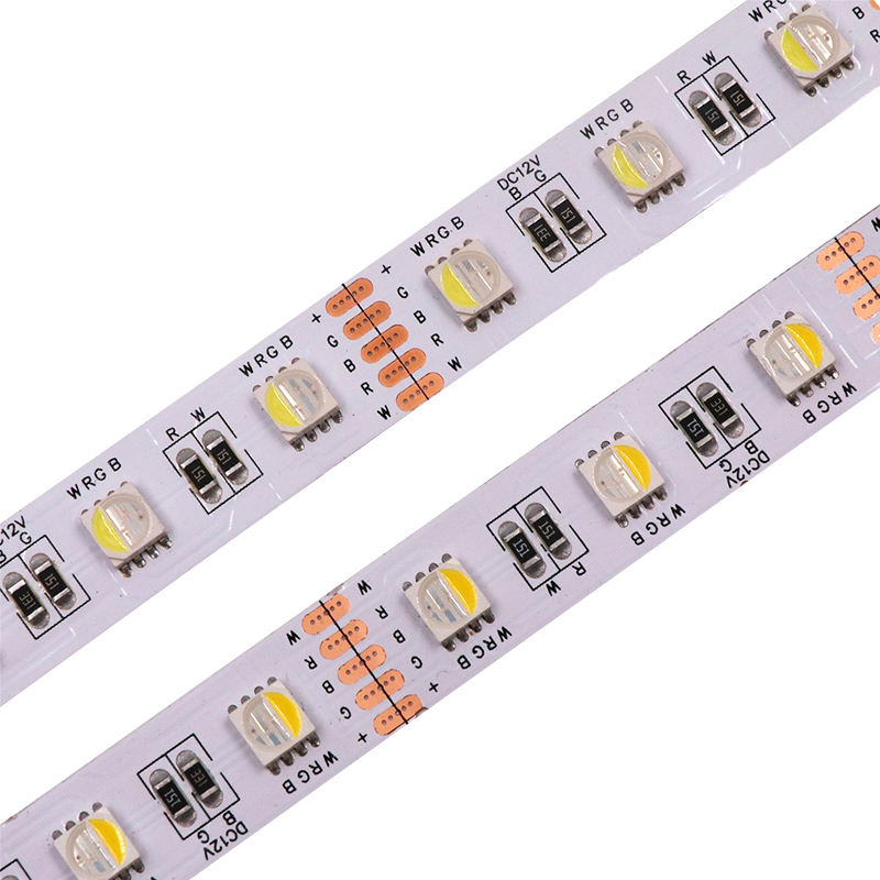 LED Strip 5050 SMD DC12V 60LEDs/m flexible led strip Light IP65 IP67 Waterproof RGB+CCT RGBW 4 In 1 LED Light Strips 5m/Roll