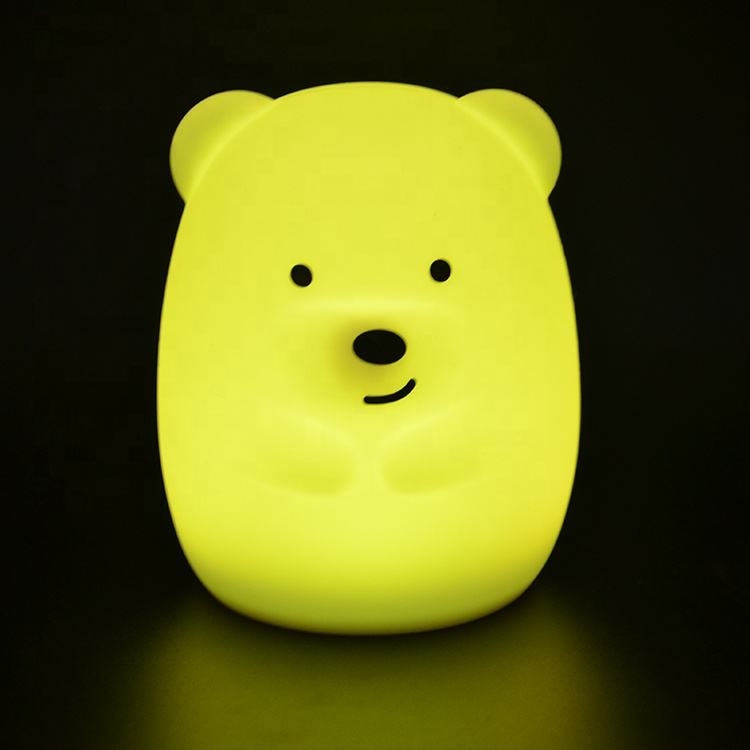 New Product 8 Colors Silicone ABS Cordless Sleep Night Light Led Baby Light Night For Kids Room