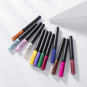 High quality long-wear professional waterproof 12pcs colourful liquid matte eyeliner pencil set