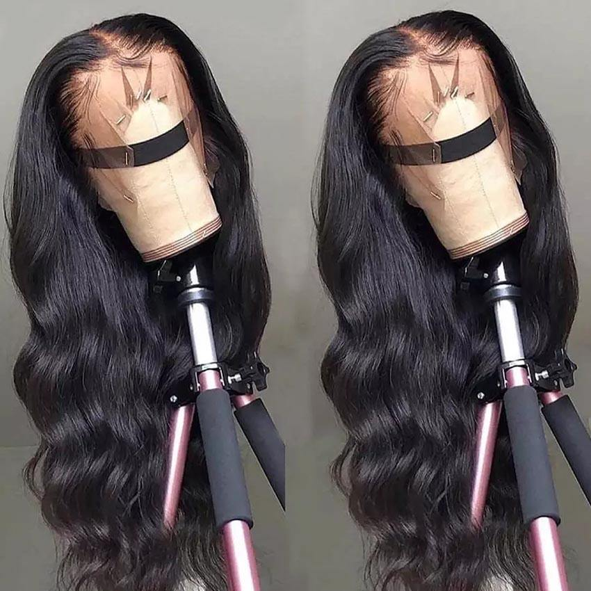 Free sample Body Wave Wig 13x4 Lace Front Human Hair Wigs Pre Plucked Virgin brazilian Remy 13x4 Transparent Lace Frontal Wigs
