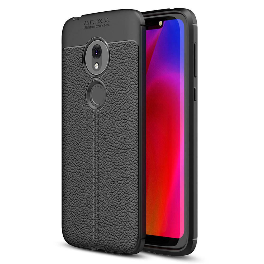 Free Shipping Laudtec Leather Texture Silicon TPU Auto Focus Skin Back Cover Mobile Phone Case For Motorola Moto P50/ One Vision