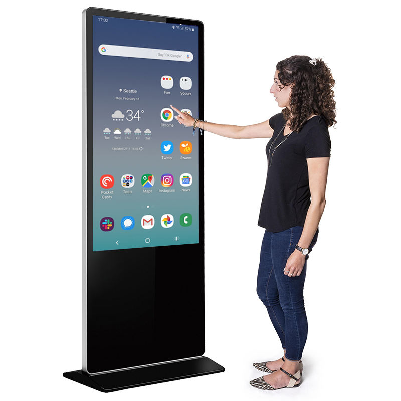 Floor Stand Touch Screen Digital Advertising Display Board for Restaurant