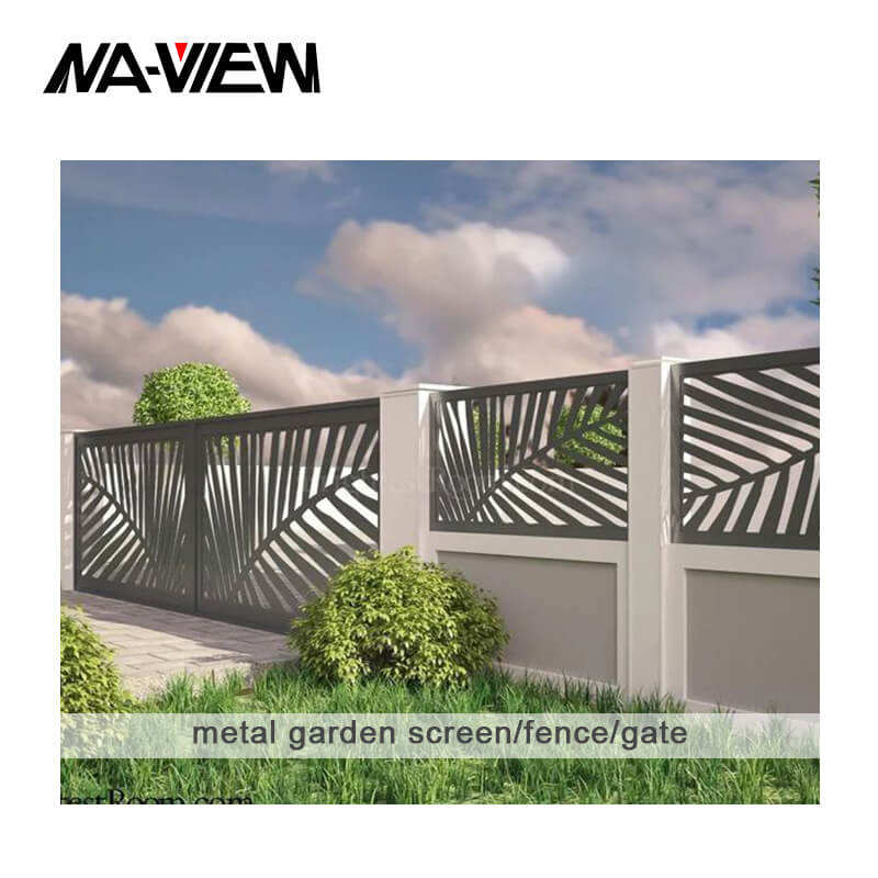 Logo Customization Steel Fence Welded Steel Metal Fence Panels