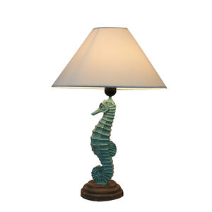 New arrive ocean style table lamp design decorative seahorse table lamp