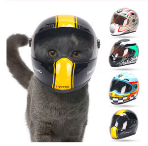Puppy Cat Hat Helmets Small Pet Cool Fashion Plastic Outdoor Helmets for Motorcycles Photo Props Protect Pet Accessories
