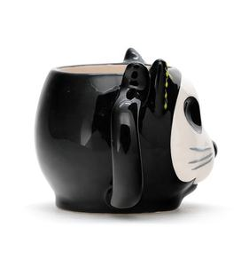 Best Selling cute earthenware 3d cat shaped Animal Ceramic Mugs Design with 3D handpaint