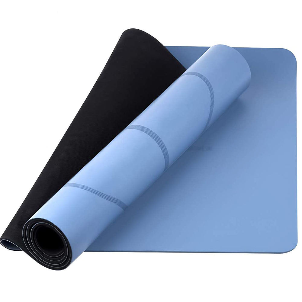 Home Fitness Optimal Cushioning Wide Thick Workout Exercise Mat, Anti-Tear PU Yoga Mat with Carrying Strap