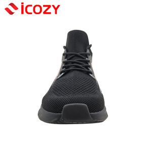 2020 New men casual shoes lace up fly woven mesh breathable comfortable walking sneakers