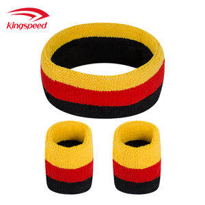 sport sweatband manufacturer custom unisex high elastic athletic cotton wristband for gym