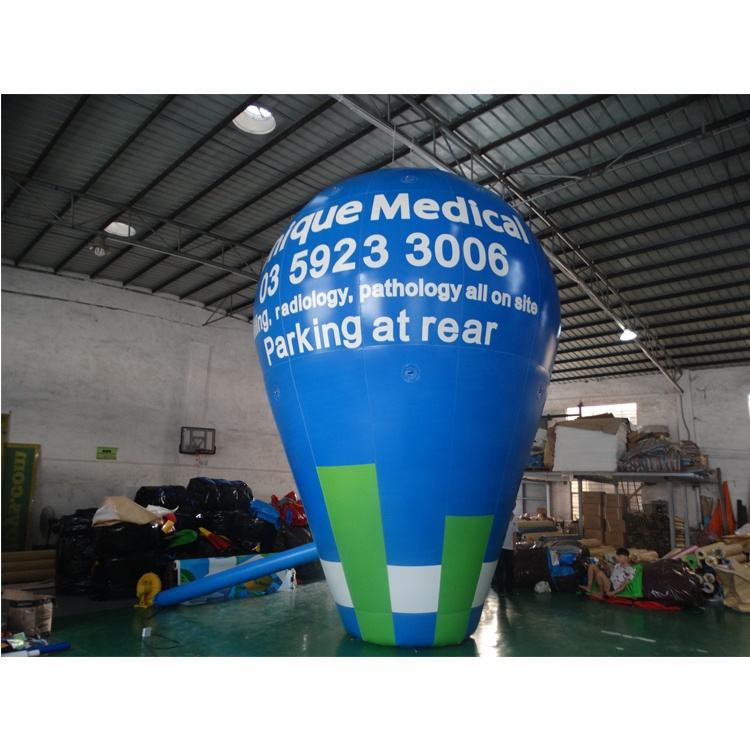 2019 popular ACE fully printed blue inflatable helium balloon/ inflatable falling earth for advertising