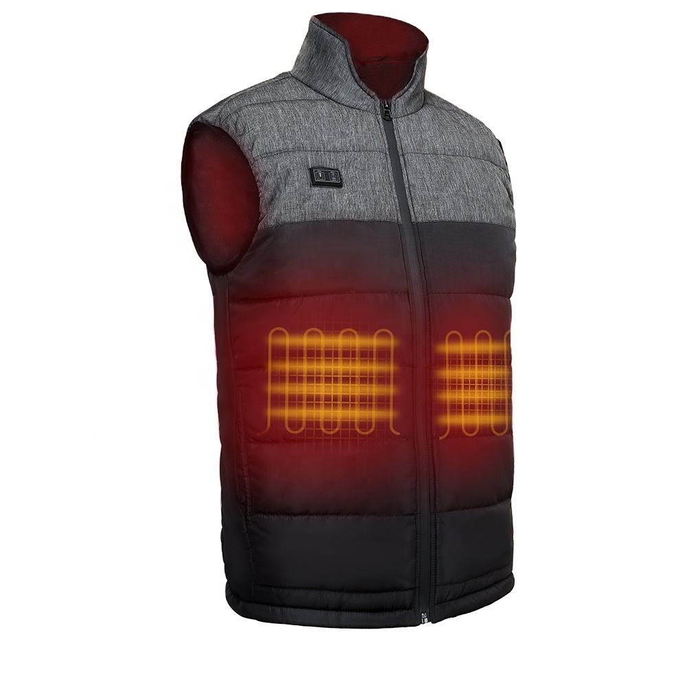 USB 5V Powerbank Power Heated Vest Cheaper Mens Heating Waistcoat for Mens
