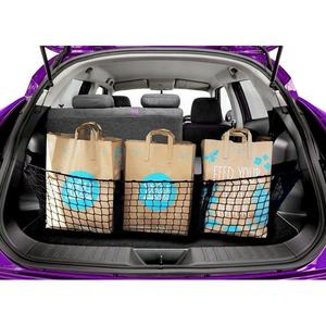 3 Pocket Grid Bagage Opslag Netto Pocket Bag Voor Auto Pickup Suv Kofferbak Maat 112X30X30 Cm
